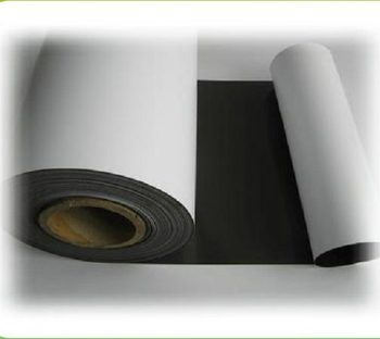 White PVC Covered Printable Rubber Magnetic Roll