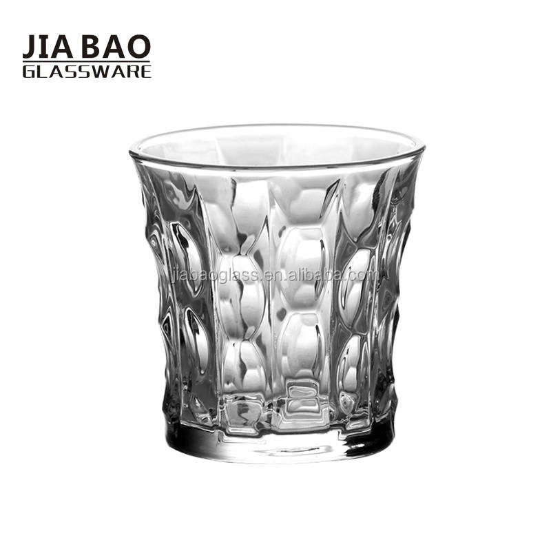 Wholesale own mix mold engraved glass tumbler