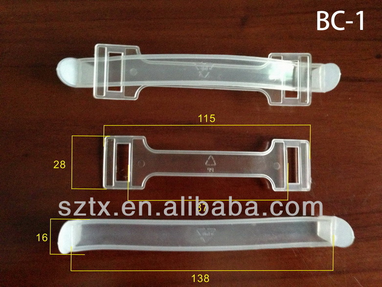 115mm transparent carton plastic handle from shenzhen