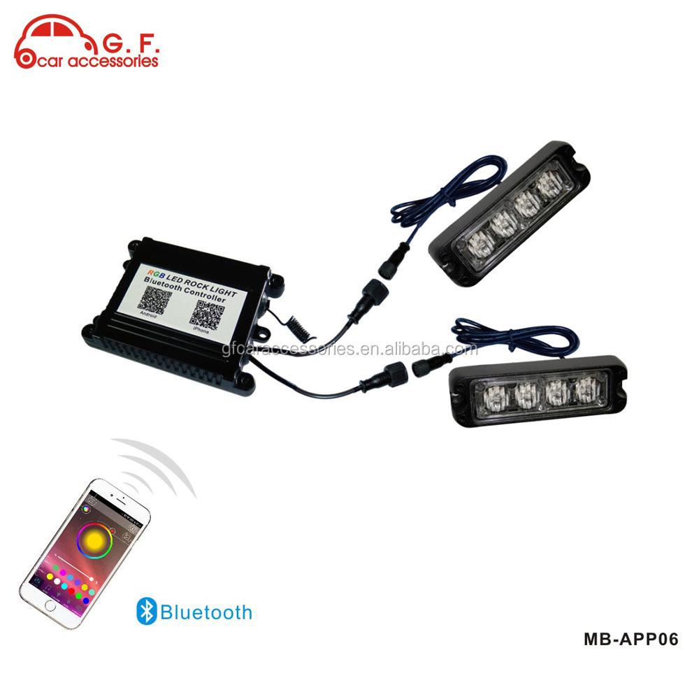 24w Trailer Wireless Remote Control Led Strobe Light Warning