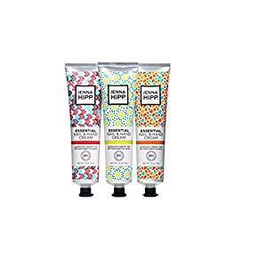 Jenna Hipp Essential Nail and Hand Cream, 3 Tubes