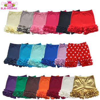 High quality baby muti-colors kids summer girls icing ruffle Cotton Baby Ruffle Shorts