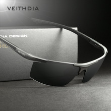 VEITHDIA Aluminum Magnesium font b Men s b font font b Sunglasses b font Polarized Coating
