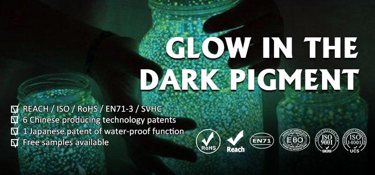 Glow ในผงสีเคลือบเซรามิคเคลือบเครื่องสำอางค์หมึกสี Photoluminescent Pigment Powder