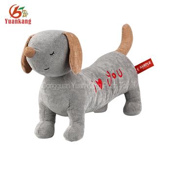 Plush Grey I Love You Dachshund Dog Stuffed Toy Buy Dog