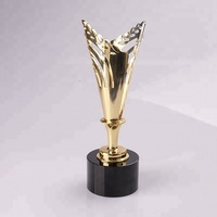 Wholesale China Golden Metal Oscar Trophy With Black Crystal Base