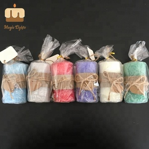 2018 Trends Assorted Colour Vanilla Flavor RUSTIC STYLE Decorative Pillar Candles Scented Sale
