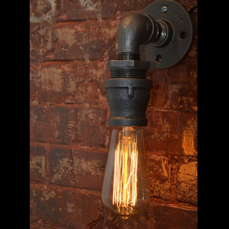 Loft Vintage Nostalgic Industrail Lustre Water Pipe Edison Wall Sconce Lamp Resturant Hotel Bar Stair Home Decor Modern Lighting