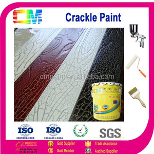 Wall decoration solvent free acrylic crackle effect spray paint