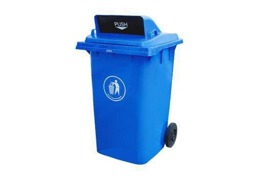 plastic dustbin 360L Open Top Stainless Steel Waste Rubbish Bin for shopping mall