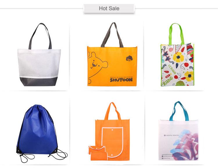 अनुकूलित पारिस्थितिकी के अनुकूल बैग ले जाना पॉलिएस्टर पुन: प्रयोज्य Foldable टुकड़े टुकड़े में गैर बुना बैग ले जाना बड़ा आकार