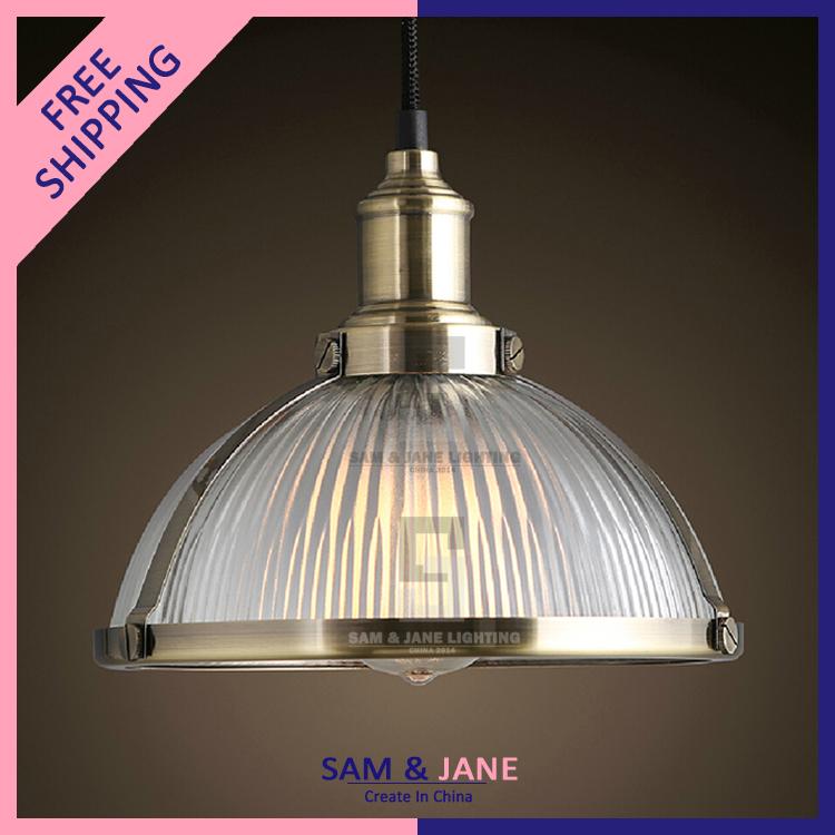 """10"""" E27 Silver Vintage Pendant Light Fixtures Industrial"""