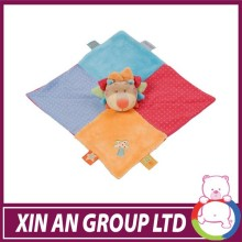 High quality baby blanket 100% polyester fleece fabric cheap animal head baby toy blanket