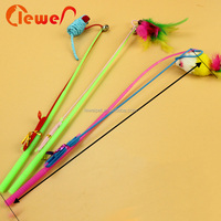 Pet Accessory Cat Teaser Feather Playing Wand Training Cat Toys