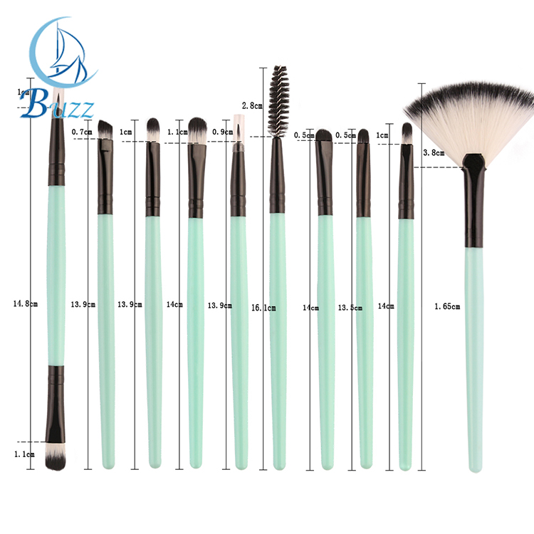 18pcs Free sample brown handle soft hair makeup brush set Synthetic Hair cheap wholesale cosmetic tool