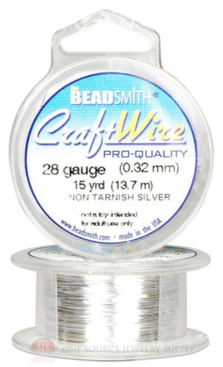 Silver 28GA Round Craft Wire Jewelry Beading Wrapping Jump Rings 15 Yds