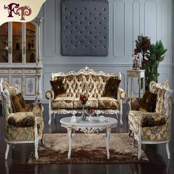 Antique Baroque European Furniture Italian Brands Sofa Set Living Room Reproduction French