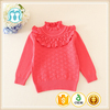 hand knitted wool sweaters of baby girls pullovers red wholesale sweaters for winter