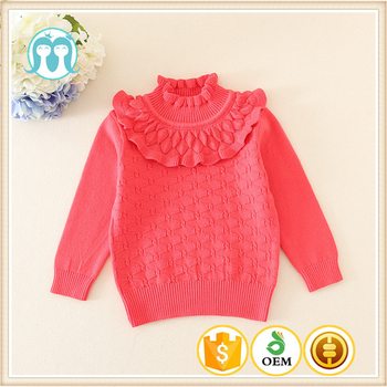e83b7d5e4444 Hand Knitted Wool Sweaters Of Baby Girls Pullovers Red Wholesale ...