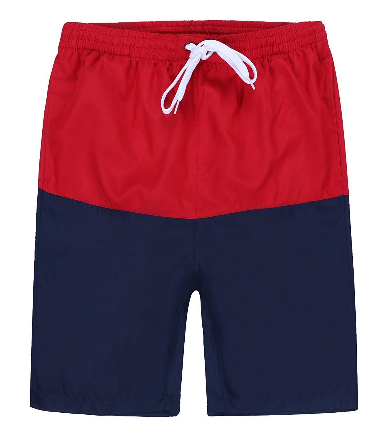 1e4fc1a76f Get Quotations · Dwar Men's Swim Trunks, Beach Shorts with Mesh Lining Watershort  Swimsuit with Cargo Pockets