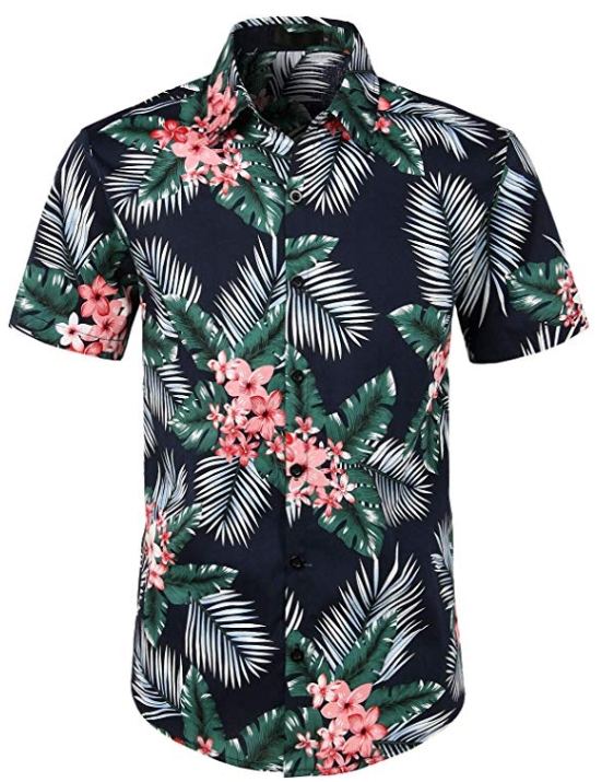Wholesale Cheap Custom New Arrival Casual Print Short Sleeve Button Up Hawaiian Shirt For Men