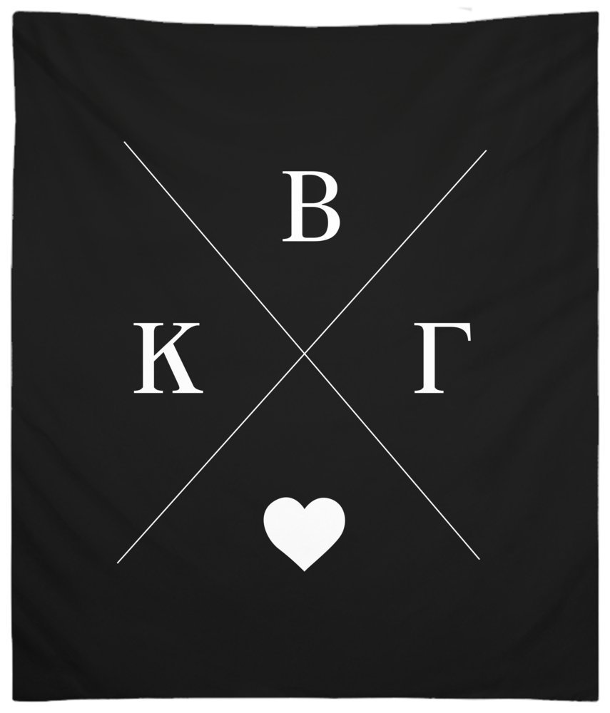 Kappa Beta Gamma Hipster Wall Tapestry for Bedroom or Dorm