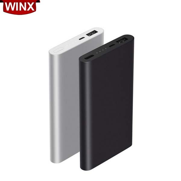 Winx 10000mAh PowerBank Pro for Xiaomi Set MicroUSB+Type-c 2 in 1 Cable,Two-way Fast Charge Slim,Gold