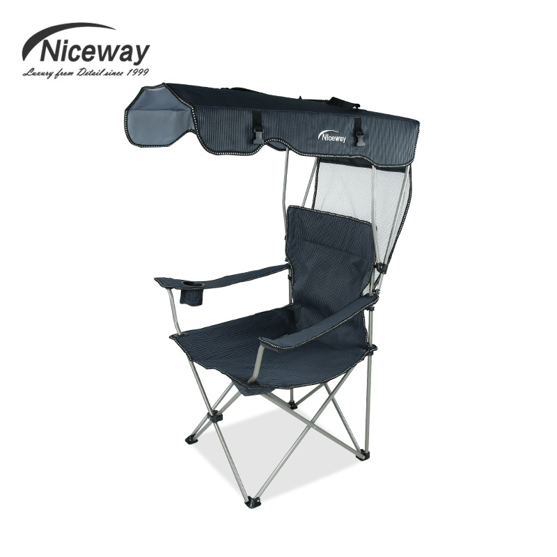 portable fishing chair with sunshade folding chair for fishing beach chair backrest with shed. Black Bedroom Furniture Sets. Home Design Ideas