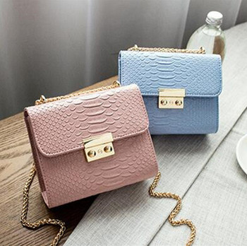 fcb6c5e17 Simple Alligator Crocodile Leather Mini Women Crossbody bags Small Women Bag  Messenger Shoulder Sling Purse Lady