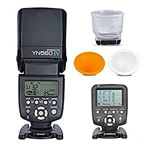 Yongnuo YN-560IV Wireless Flash Speedlite + YN560-TX LCD Flash Remote Controller +LambencyFlash Diffuser For Nikon DLSR Cameras