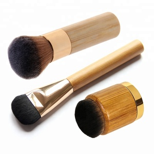 1pc profession bamboo material single makeup brush for foundation blush cosmetic