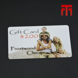 Custom CMYK Printing CR80 pvc pure color visa gift card