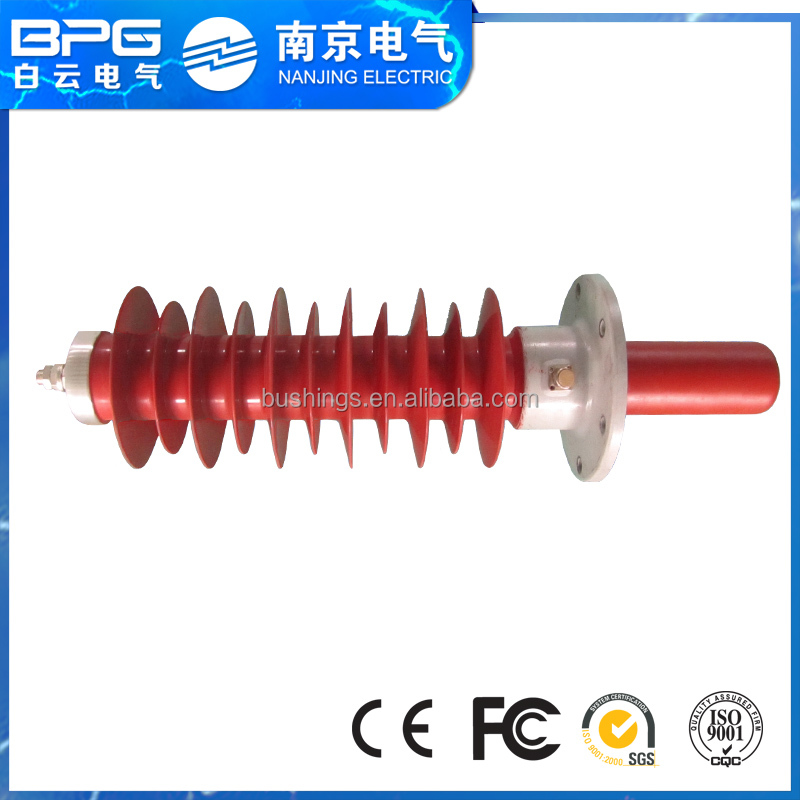 Composite polymer wind power box transformer bushing