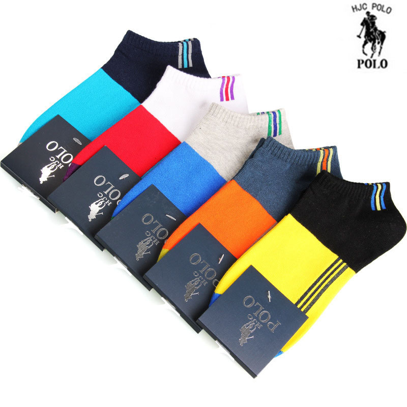 2015 Men Socks Polo Male Breathable Socks for summer 5 pairs/lot one lot same color,Male cotton socks Antibacterial polo socks