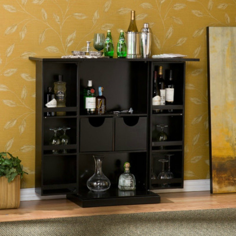 Get Quotations Stylish Bar Cabinet Mini Home Liquor Wine Gl Storage Expandable Furniture