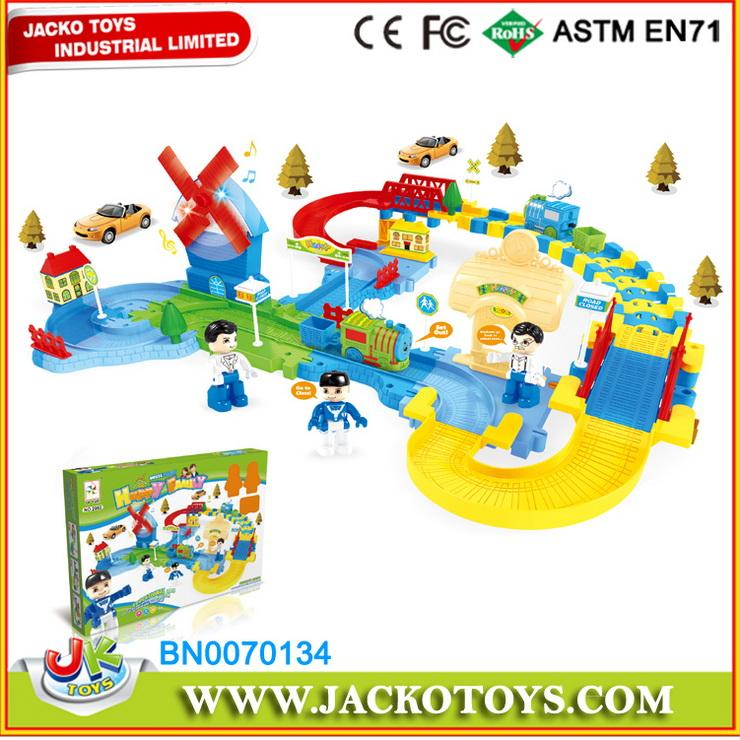 Children Play Set City Railway Toys Set With Sound Light My Family 1
