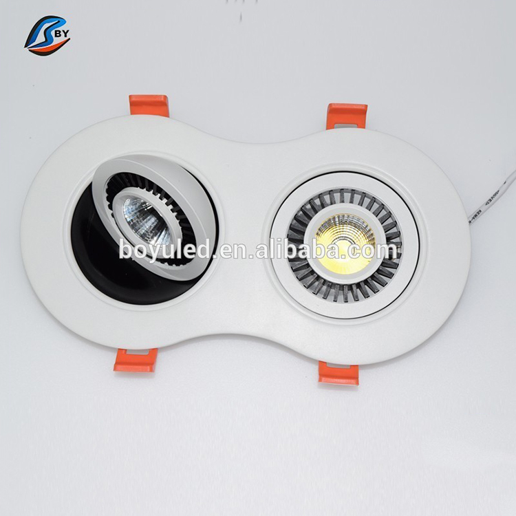 15 Angle Energy Saving Led Down Light Warm White Dimmable 9W Led Recessed Downlight 110V 240V Replace 45W Halogen Lamp