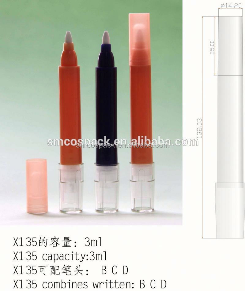 3ml nail polish corrector pencil lip gloss container