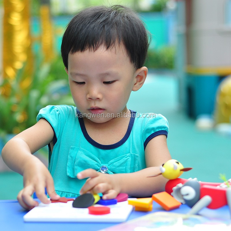 2019 Wholesale soft Educational baby toy silicone kids puzzle game with 9pcs basic shape