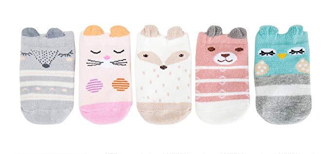 Chaussettes de dessin animé pour bébé Chaussettes Asymétriques