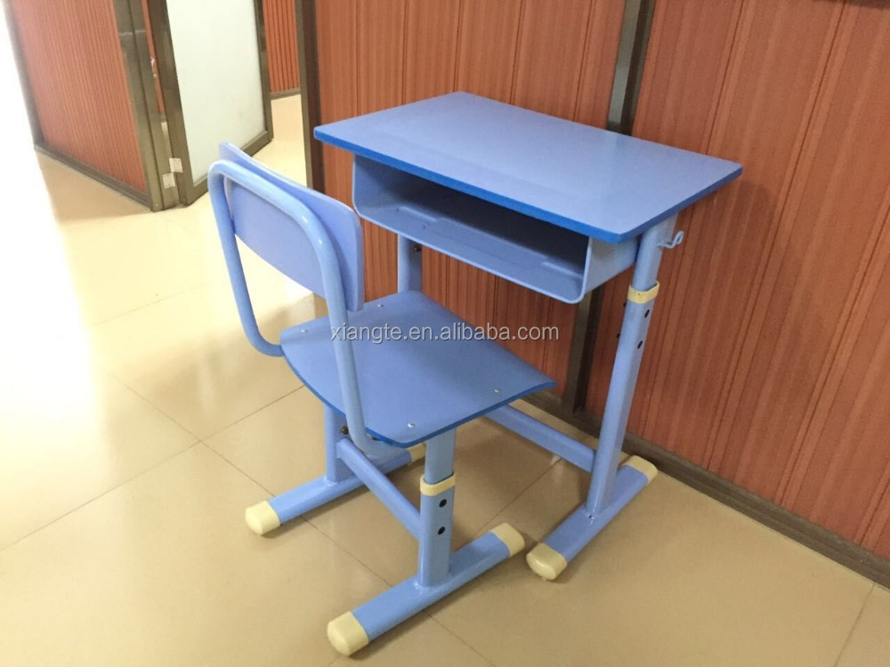 single school desk cheap price for sale, adjustable height fits students
