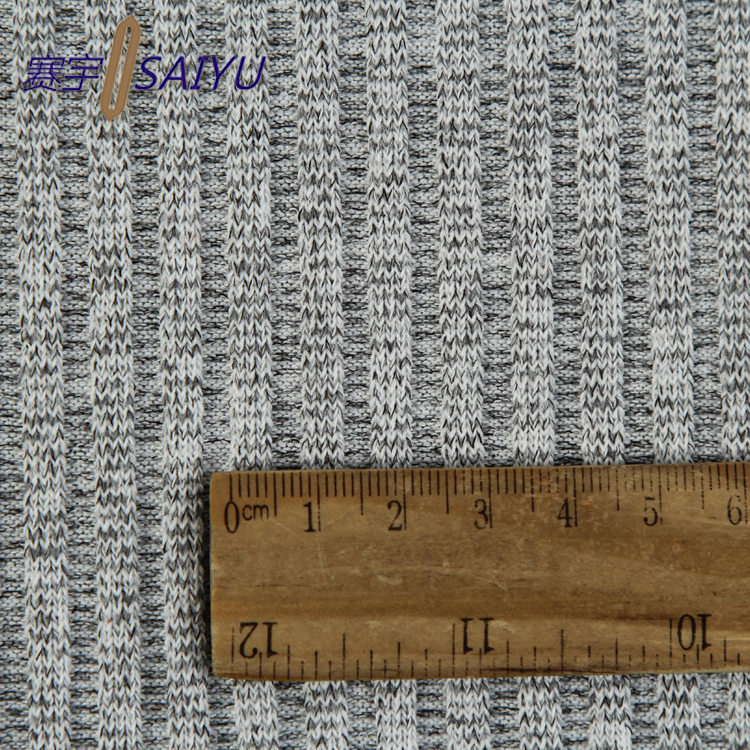Market Alibaba Grey 100% Polyester 4*4 Rib Collar Knit Trim Fabric Composition