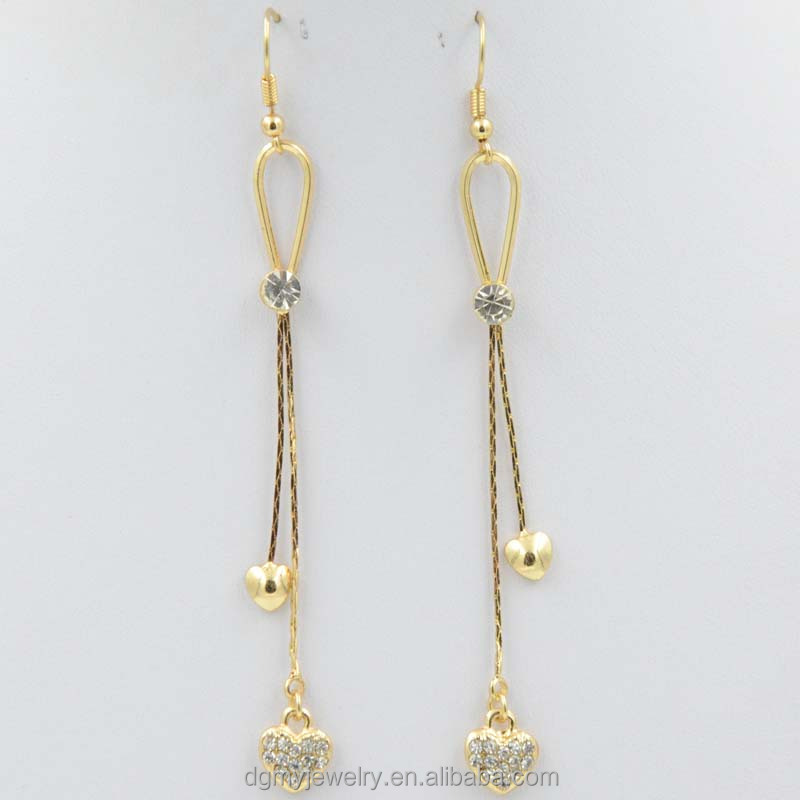 latest hanging earrings in gold gold meenakari jhumka
