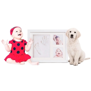 Wholesale Baby Hand and Footprint Picture Frame Kit Baby Handprint Set Picture Frame