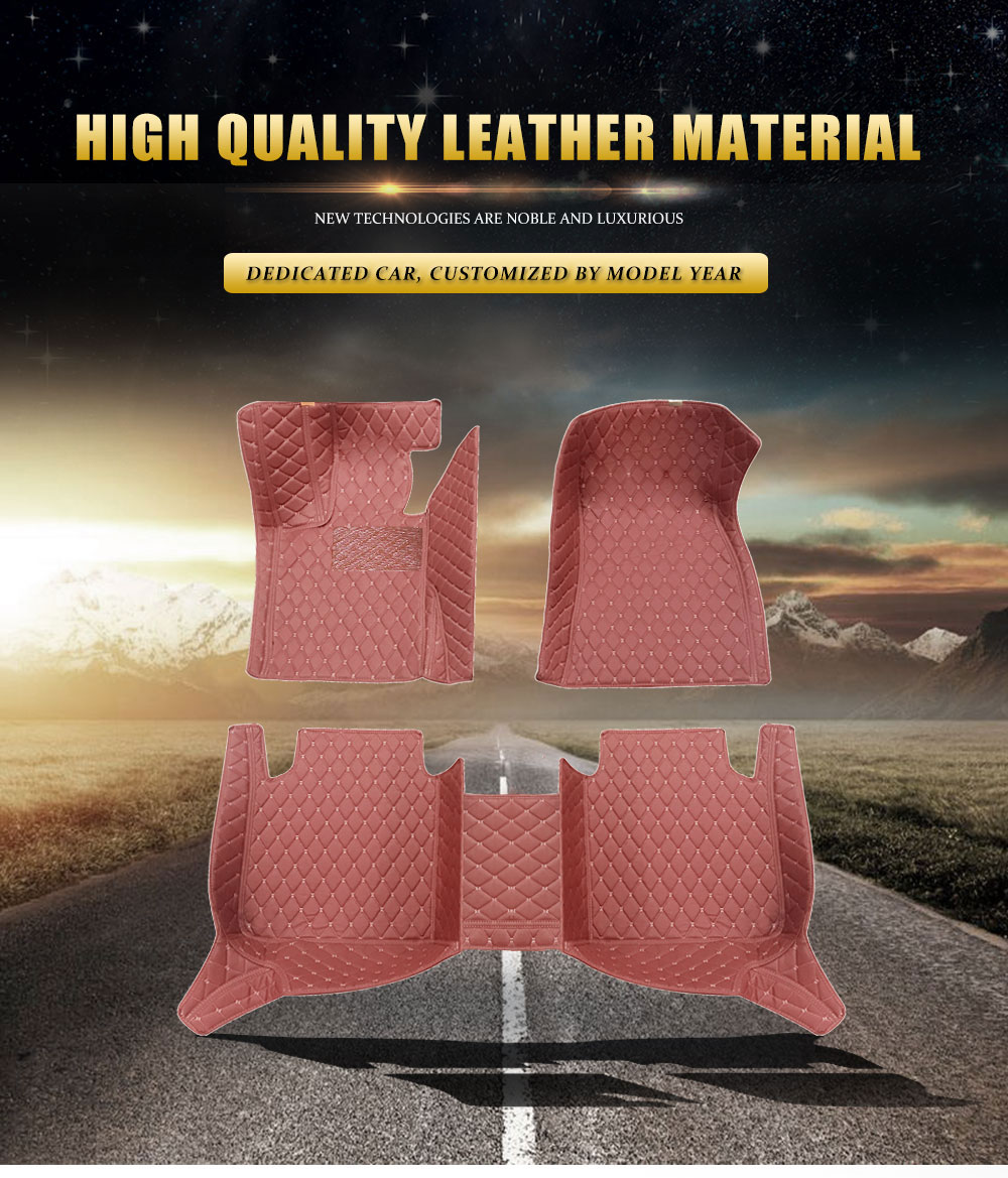 Rownfur Factory High Quality 4 Pcs Full Set Non Skid Design china Well-Being Luxury PVC leather Car carpet floor Mat