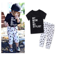 F20585A New european style child wear kid clothes 2pcs baby clothes clothing set