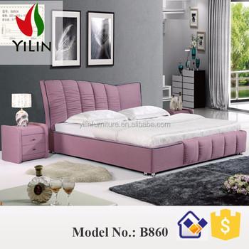 roze stof gestoffeerde kingsize uft bed voor slaapkamer meubels