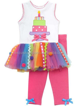 Birthday Dress For 3 Year Old Baby Girls Multi Color Tiered Cake Tutu