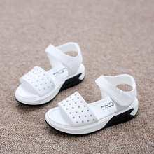 2016 Summer Girls Boys Sandals fashion Rivets Baby Casual Shoes anti slip hollow sport Children Beach