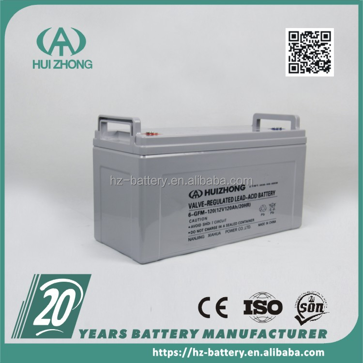 solar battery 12v 120ah Agm capacity for home electricity use 5kw solar system